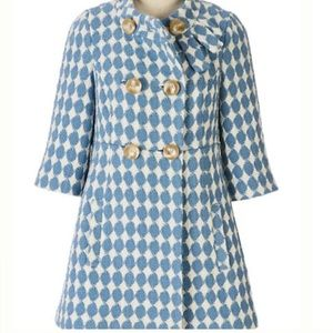 Anthropologie Leifsdottir Houndstooth Boucle Coat